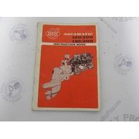 2112A Volvo Penta Aquamatic 120/200 110/200 Owner's Manual Instruction Book 1967