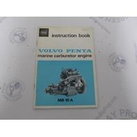2505B Volvo Marine Carburetor Engine MB10A Owner's Instruction Book 1974