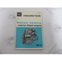 2562 Volvo Penta Marine Diesel MD6A Owner's Instruction Book 1972