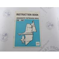 2771 Volvo Penta Aquamatic 280 280T Owner's Instruction Book 1973