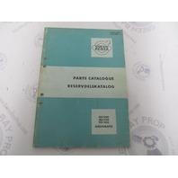 2122 Volvo Penta Parts Catalog Aquamatic 110/200 110/100 95/100 1966