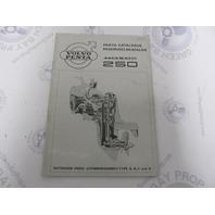 2261 Volvo Penta Parts Catalog Aquamatic 250 Outboard Drive 1968