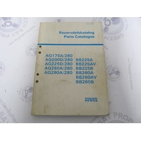 3626 Volvo Penta Parts Catalog Aquamatic Marine Engine 1981