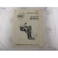2284 1969 Volvo Penta Aquamatic 250 Service Workshop Manual Drive Units A-D