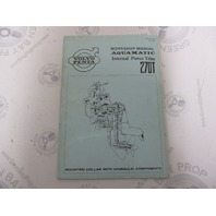 2638 Volvo Penta Aquamatic 270T Service Workshop Manual Internal Power Trim 1972