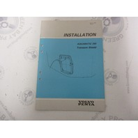 5303 Volvo Penta Installation Manual Aquamatic 290 Transom Shield 1984