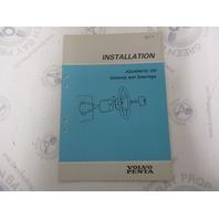 5304 Volvo Penta Installation Manual Aquamatic 290 Controls & Steering 1984