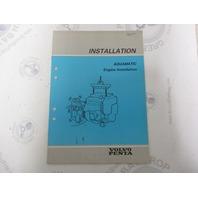 5307 Volvo Penta Installation Manual Aquamatic Engine 1984