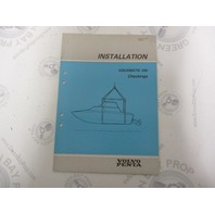 5310 Volvo Penta Installation Manual Aquamatic 290 Checkings 1984