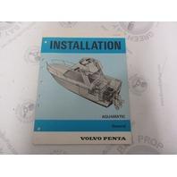 5190 Volvo Penta Installation Manual Aquamatic General Info