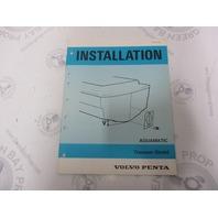 5191 Volvo Penta Installation Manual Aquamatic Transom Shield