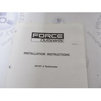 Force Outboard Instumentation Gauge Installation Instructions Set