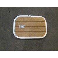 "Teak Wood Boat Floor Deck  Cover & Aluminum Frame 19 1/2"" X 13 1/2"""