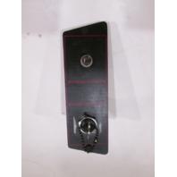 1986 Bayliner Capri Boat Dash Ignition Key Switch Panel W/ Trim Switch