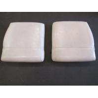 1995 Wellcraft Excel 21SX Boat Rear Jump Seat Butt Cushion Set White Vinyl
