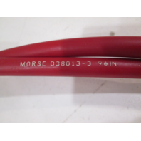 D38013-3-96 Morse Red Jacket 40 Series Bulkhead And Clamp Push-Pull Cable 96""