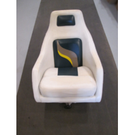 2001 Euroline Twister Passanger Captains Chair White/Green/Tan/Yellow