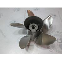 "48-816374A40  High Five Blade Stainless Prop 25 Pitch 15 Spline 4 3/4"" Gear Case"