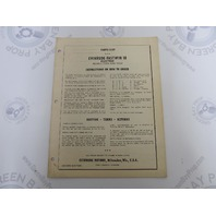 2923 Evinrude Fastwin 18 HP Electric Models Parts List Catalog