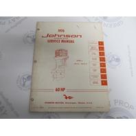 JM-7009 Johnson Outboard Service Manual 60 HP 1970