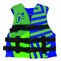 AIRHEAD TREND NYLON VEST-Youth, Up to 50-90 lbs, Blue/Green