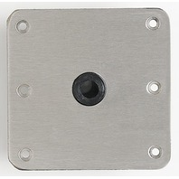 "075 SERIES LOCK'N-PIN  SS BASE PLATE, NYLON BUSHING-7"" x 7"", Non-Threaded"