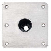 "SNAP-LOCK  1.77"" STAINLESS STEEL BASE PLATE-Stainless Steel Finish Base 7"" x 7"""