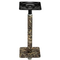 "075 SERIES  3/4  PEDESTAL SET, ALUMINUM BASE-11  Post, 7"" x 7"", Realtree Max 4 Camo"