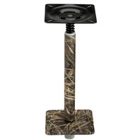 "075 SERIES  3/4  PEDESTAL SET, ALUMINUM BASE-13  Post, 7"" x 7"", Realtree Max 4 Camo"
