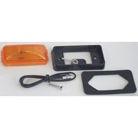SEALED CLEARANCE/SIDE MARKER LIGHT-Amber Trailer Kit w/Black Bracket