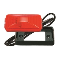 SEALED CLEARANCE/SIDE MARKER LIGHT-Red Trailer Light Kit w/Black Bracket E150BKR