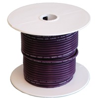 MARINE GRADE SINGLE CONDUCTOR PRIMARY WIRE, BULK-16 Ga. Purple Wire 100'