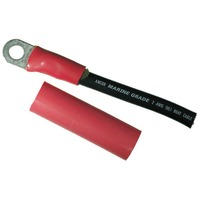 "HEAT SHRINK BATTERY CABLE TUBING, ADHESIVE LINED-3/4"" x 3"", 1 Red & 1 Black per Package"