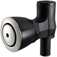90 DEGREE P-TRAP FUEL TANK VENT, FLUSH MOUNT-Black w/Stainless Steel Vent Head
