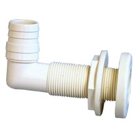 """90 DEGREE THRU-HULL CONNECTOR FOR 1"""" HULL-1-1/8"""" to 1-1/4"""" ID"""