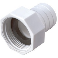 """STRAIGHT HOSE TO BARB CONNECTOR-1-1/8"""", White"""