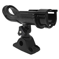 ADJUSTABLE ROD HOLDER WITH BI-AXIS MOUNT- Black