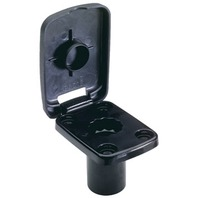 5022-7 Attwood Boat Fishing ROD HOLDER PRO SERIES Flush Mount Base, Black