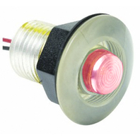 LED LIVEWELL AND BULKHEAD LIGHTS-Red Lens for Night Vision