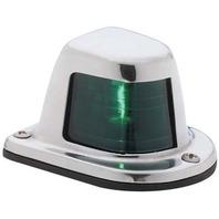 1-MILE STAINLESS STEEL SIDELIGHT-Sidelight, Green/Starboard