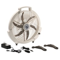 ULTIMATE RECHARGEABLE FAN- 12V/110V AC/DC w/Adapters and Charger