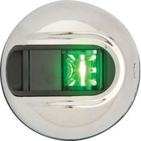 LIGHT ARMOR VERTICAL SURFACE MOUNT NAVIGATION LIGHTS-2 NM Stainless Steel Side Light, Green
