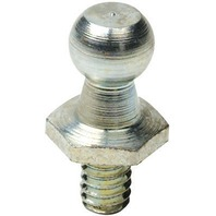 "THREADED MOUNTING STUD FOR ATTWOOD GAS SPRINGS-9/16"", 10mm Ball End, Stainless Steel"