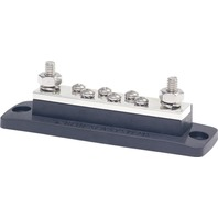 "MAXIBUS 250A BUSBAR-Two 5/16""-18 Studs,  Six 10-24 Screw Terminals"
