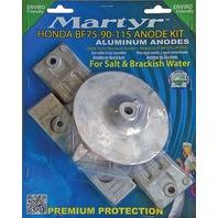 MARTYR ALUMINUM ANODE KIT FOR HONDA  BF75-90-115