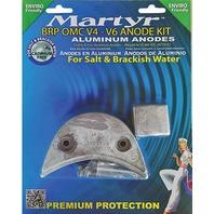 MARTYR ALUMINUM ANODE KIT FOR BRP/OMC V4-V6