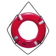 """JBX SERIES SOLAS APPROVED LIFE RING-24"""", Orange w/Reflective Tape"""