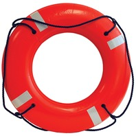 """JBX SERIES SOLAS APPROVED LIFE RING-30"""", Orange w/Reflective Tape"""