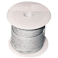 SINGLE CONDUCTOR TINNED MARINE PRIMARY WIRE, BULK-14 Ga White 100  (While Qtys Last)