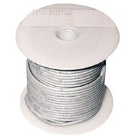 SINGLE CONDUCTOR TINNED MARINE PRIMARY WIRE, BULK-10 Ga White 100  (While Qtys Last)